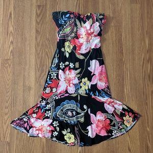 CACHE - Sexy Strapless Salsa Dress
